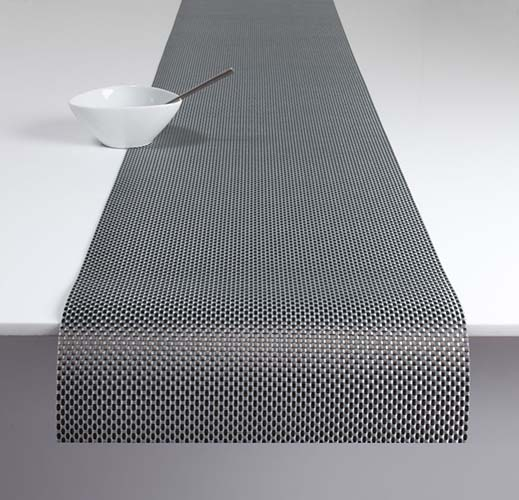 Chilewich Basketweave Table Runner 14 X 72 In Titanium