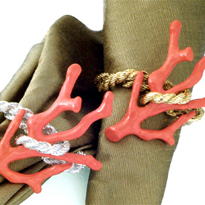 Coral Napkin Rings :  home graciousstyle gold-plated napkin ring