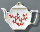 Cristobal Coral Tea Bag Holder 4.75 in x 3.5 in | Gracious Style