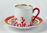 Cristobal Coral Coffee Cup 4.5 oz | Gracious Style
