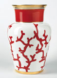 Cristobal Coral Shanghai Vase 10.25 in High | Gracious Style