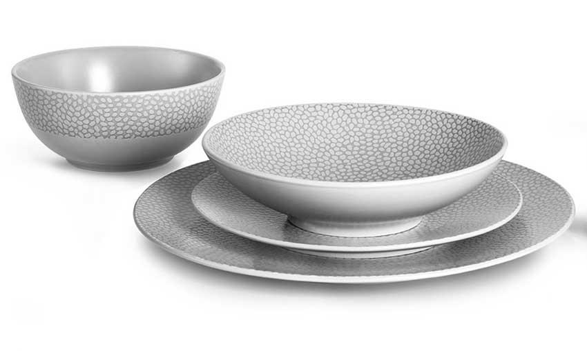 Dessert Plate Stone Soft Grey 7.87u0027u0027 rd  sc 1 st  Gracious Style & Medard de Noblat Stone Soft Grey Dinnerware | Gracious Style