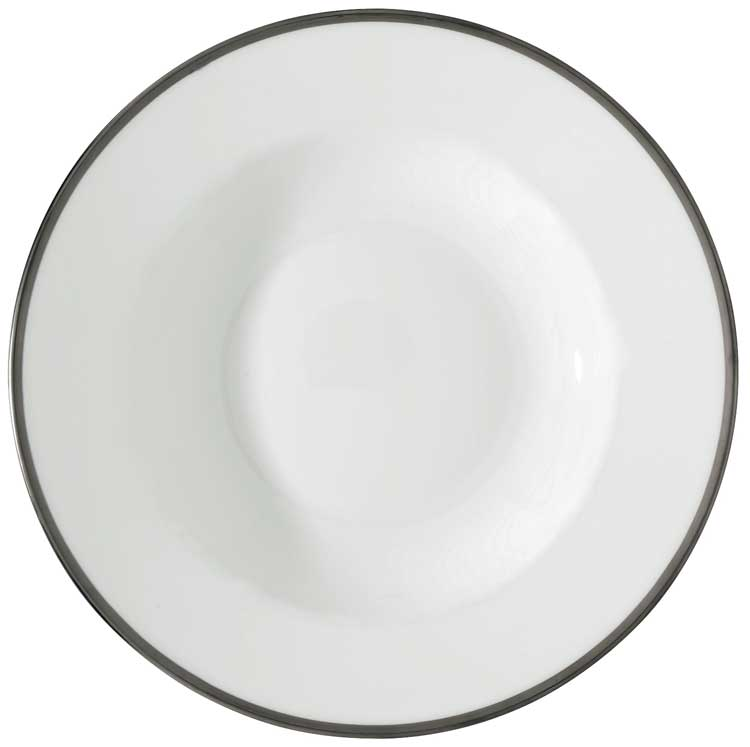 Fontainebleau - Platinum French Rim Soup Plate 9.0 in. Round  sc 1 st  Gracious Style & Raynaud Fontainebleau Platinum Dinnerware | Gracious Style