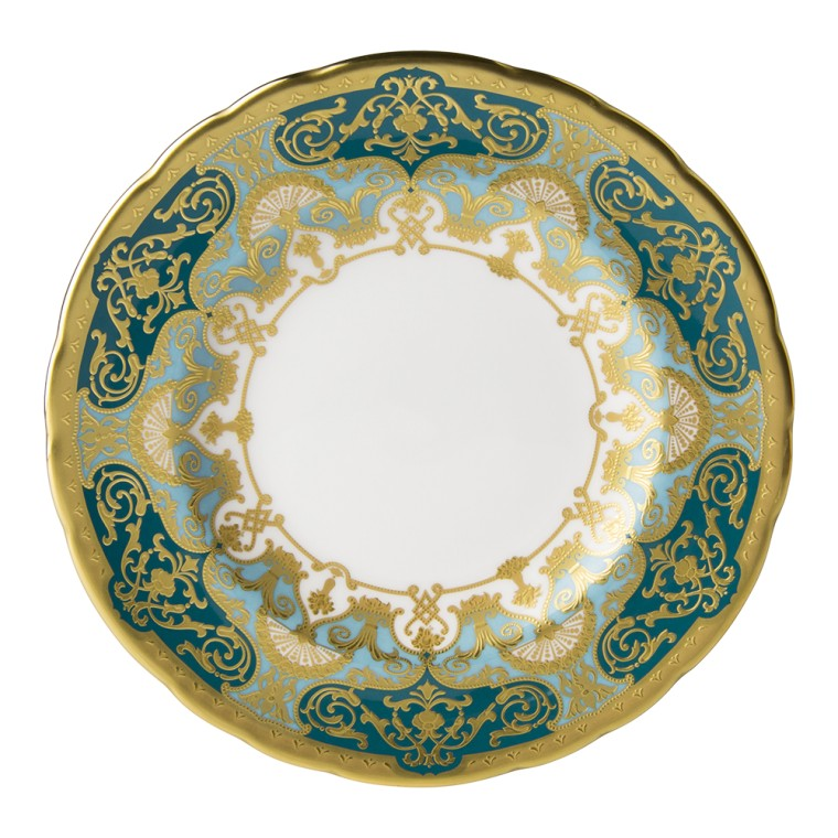 Heritage Forest Green and Turquoise Bread and Butter Plate  sc 1 st  Gracious Style & Royal Crown Derby Heritage Forest Green and Turquoise Dinnerware ...