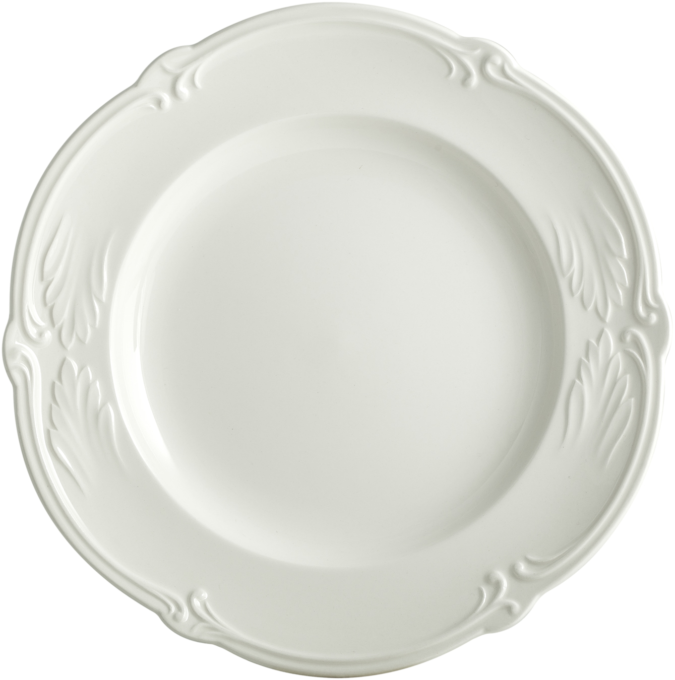 Rocaille White Canape Plate 6 11/16 In Dia | Gracious Style  sc 1 st  Gracious Style & Gien France Rocaille White Dinnerware | Gracious Style