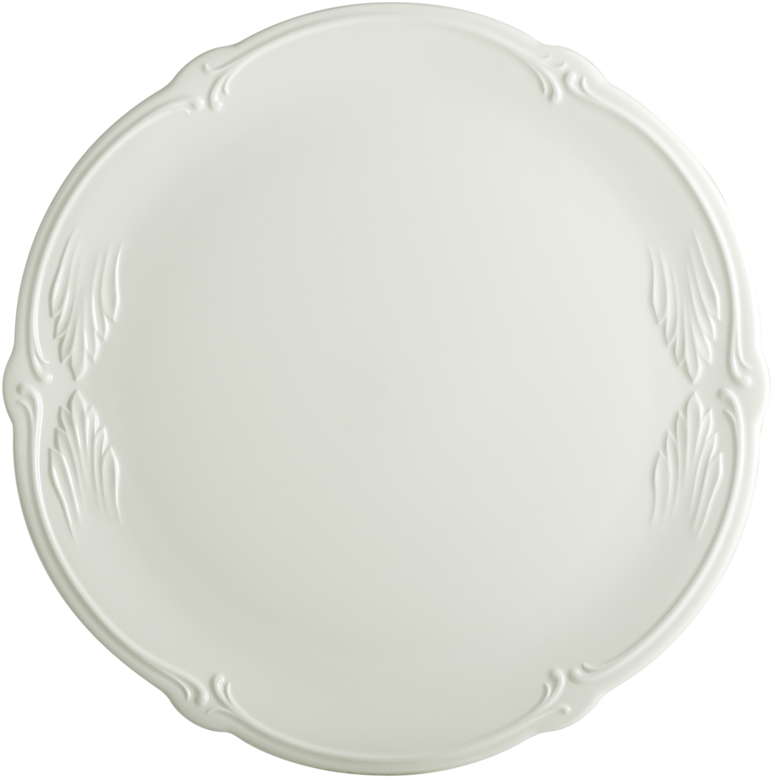 Rocaille White Cake Platter 13 7/16 In Dia | Gracious Style  sc 1 st  Gracious Style & Gien France Rocaille White Dinnerware | Gracious Style