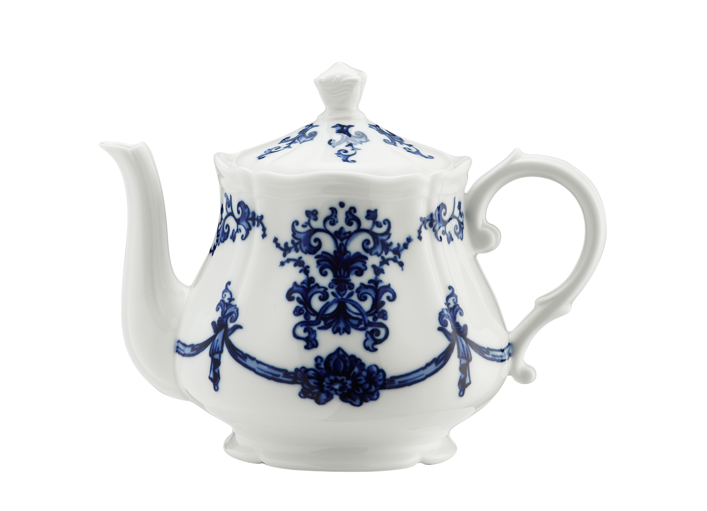 Babele Blu 38 1/2 Oz  Teapot With Cover For 12 Antico Doccia Shape (Special  Order)