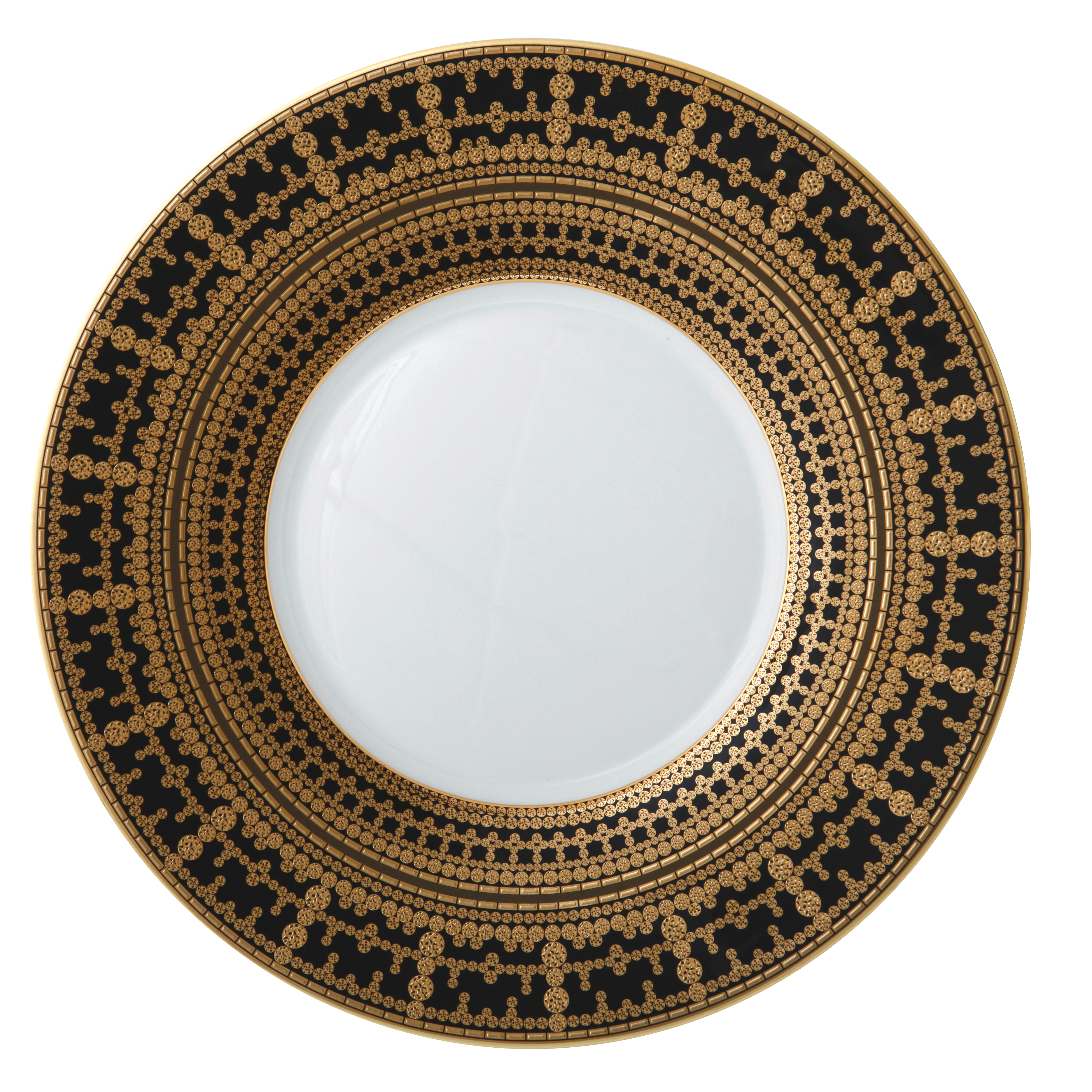 HAVILAND  sc 1 st  Gracious Style & Haviland Tiara Black \u0026 Gold Oblong Cake Platter 15 1/2\