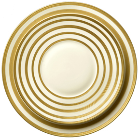Hemisphere Gold Stripe :  dinnerware limoges porcelain porcelain gold