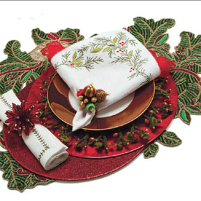 Holiday Hype Table Setting