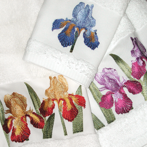 Anichini Ladybug Embroidered Bath Towels