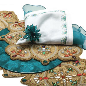 Jeweled Up Table Setting