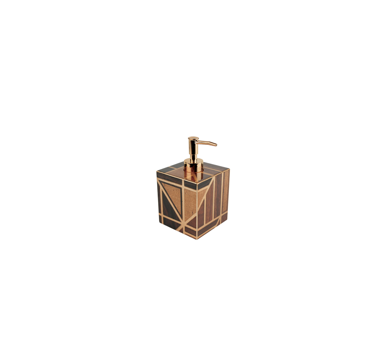 Kim seybert parquet bath accessories gracious style for Brown and gold bathroom accessories