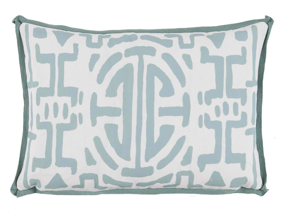 Lacefield Kenya Indigo With Blue Double Flange Pillow 22 X