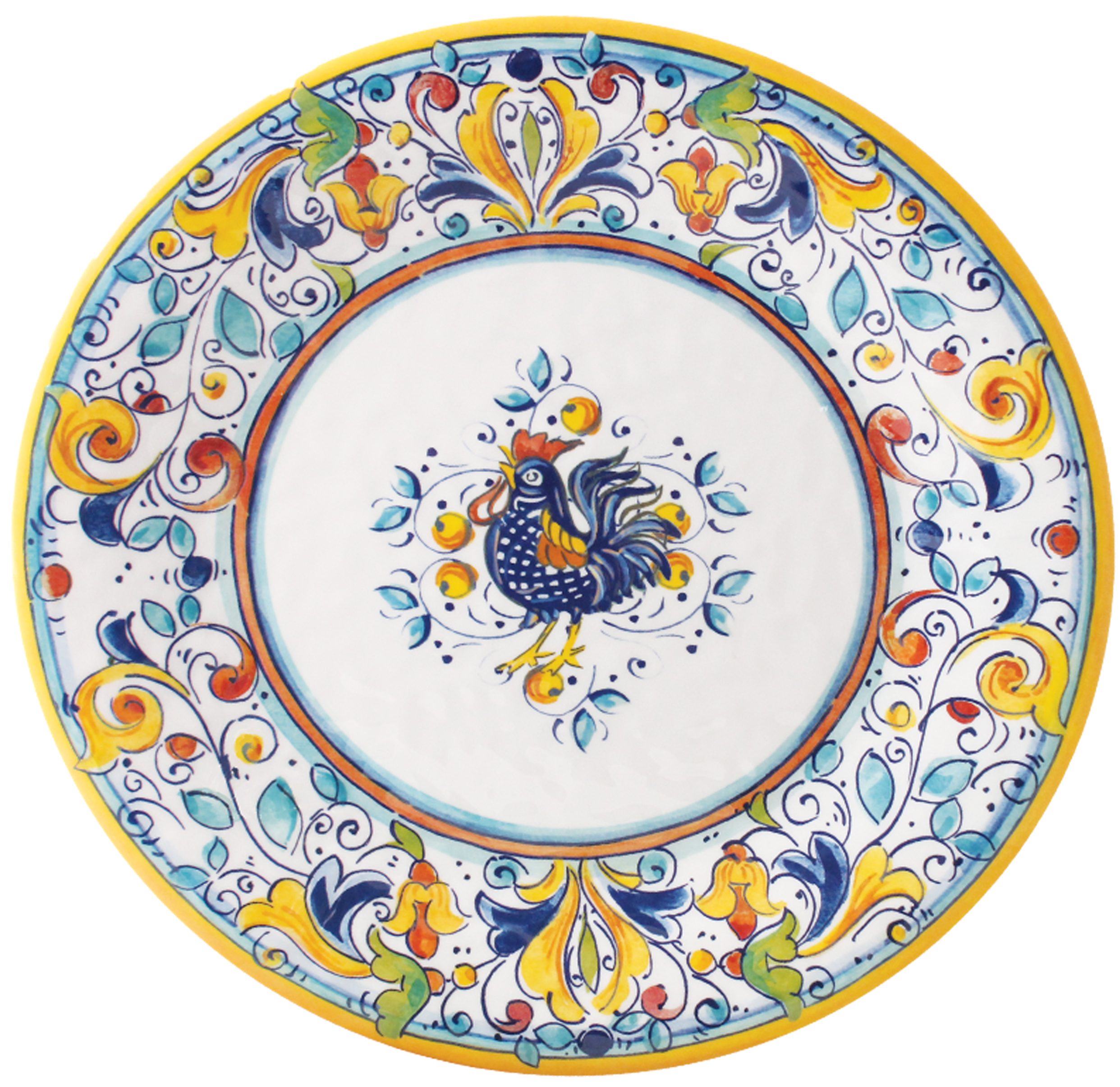Florence Rooster Melamine 11  sc 1 st  Gracious Style & Le Cadeaux Florence Rooster Melamine Dinnerware | Gracious Style