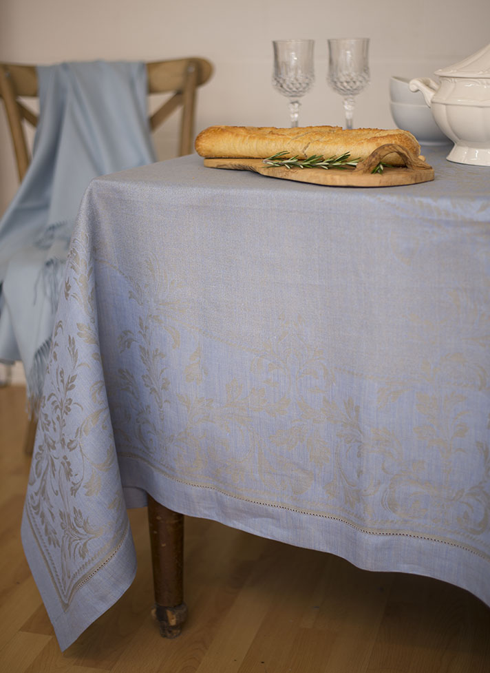 Vienna blue grey 70x122 in tablecloth