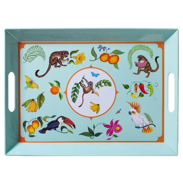 Monkey Business Melamine Serving Tray