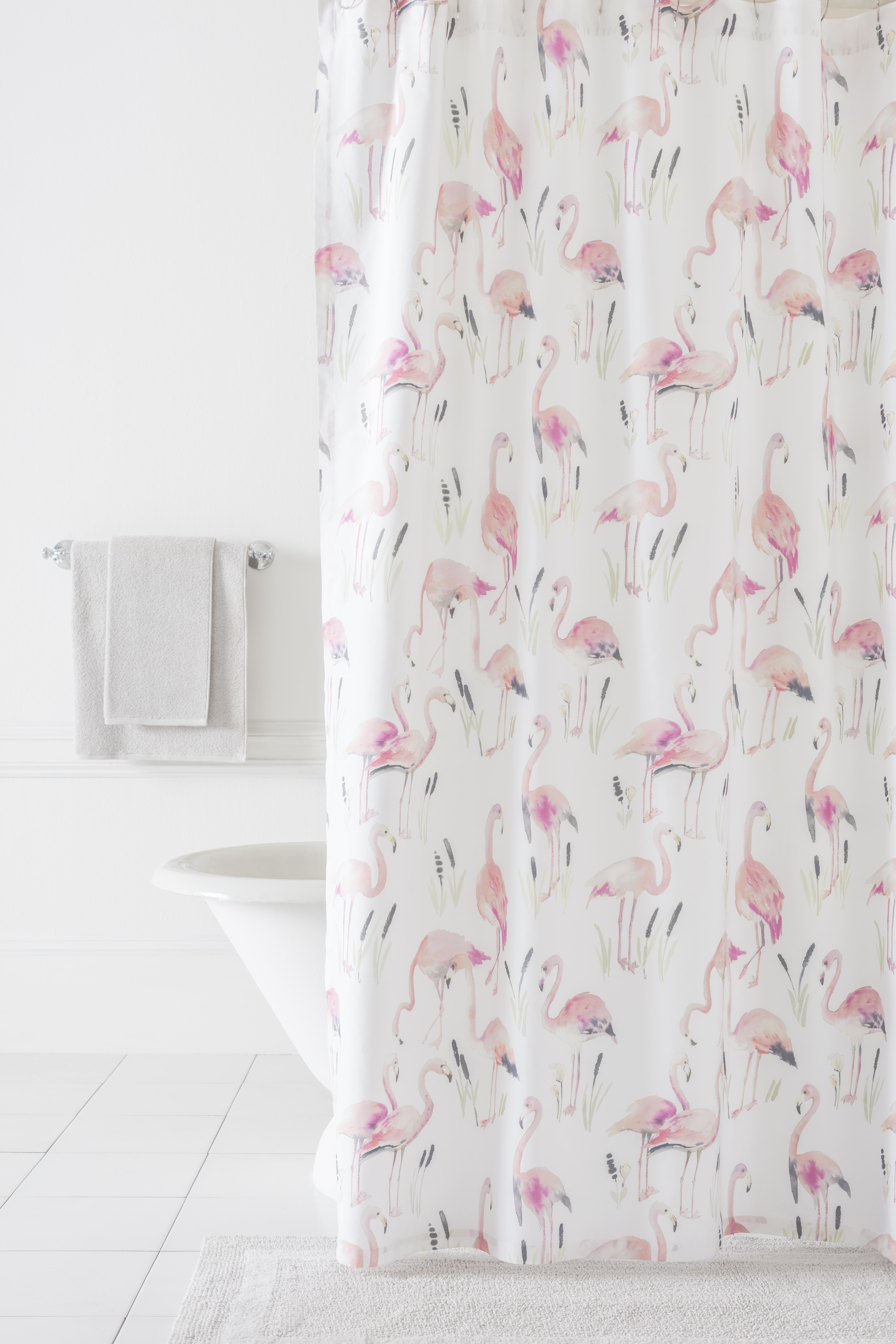 Pine Cone Hill Flamingos Shower Curtain 72 X