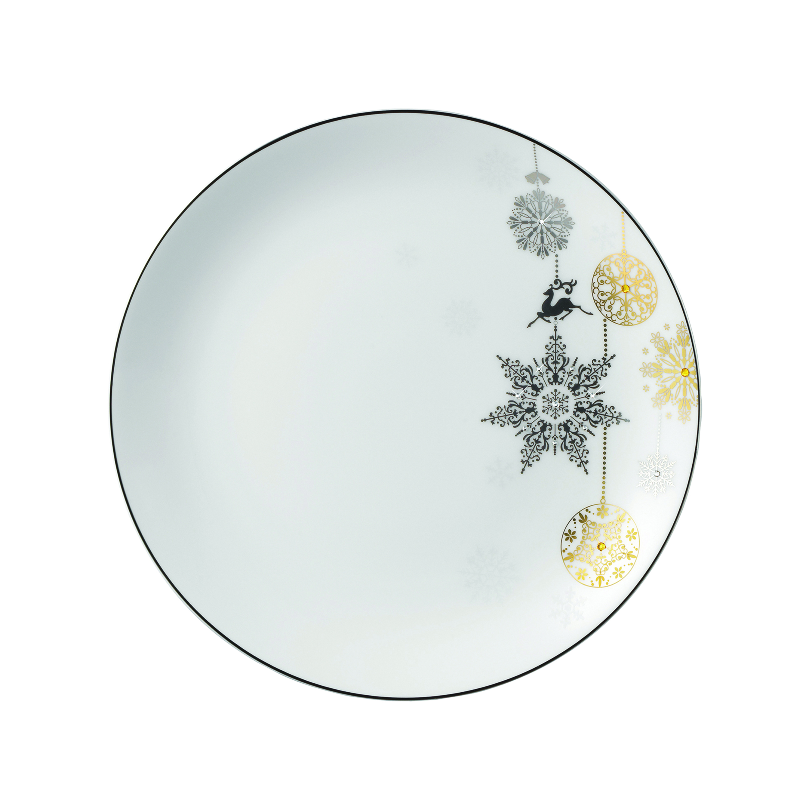 Winter Crystal Salad/Dessert Plate 8 in  sc 1 st  Gracious Style & Prouna Winter Crystal Dinnerware | Gracious Style