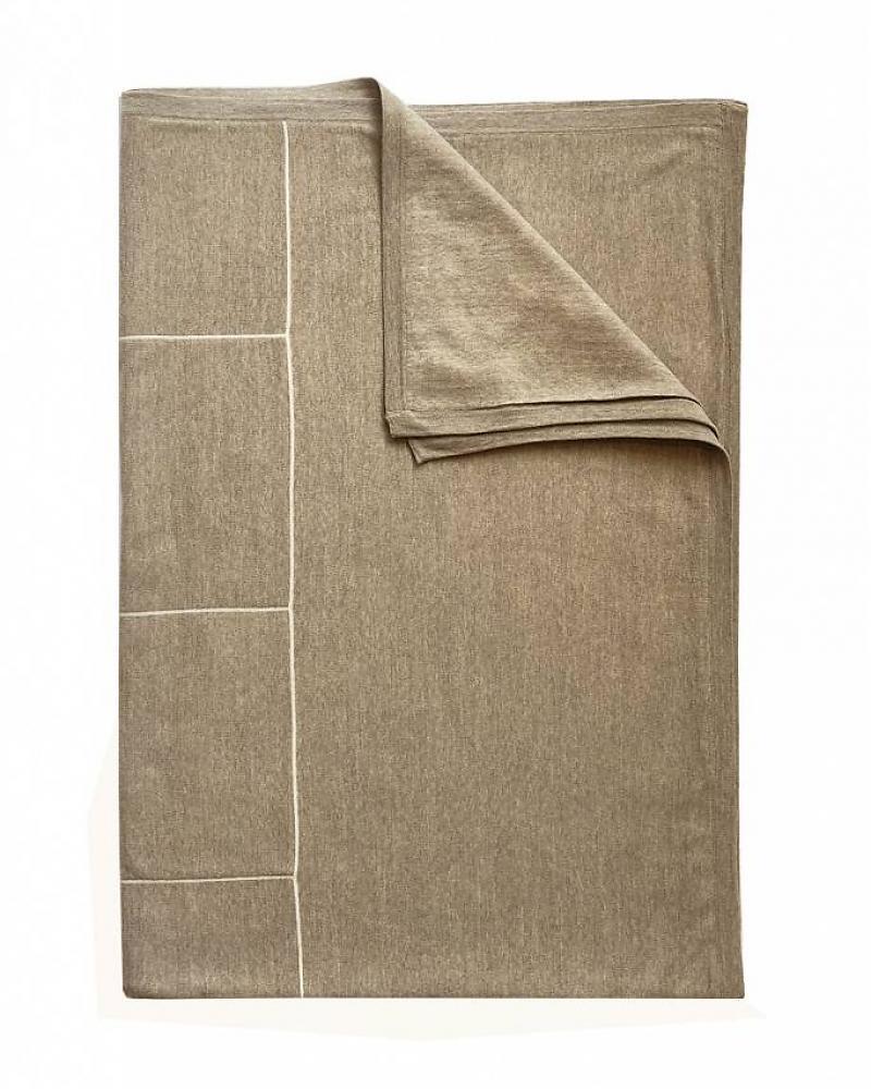 Rani Arabella Cortina Squares Cashmere Blend 50 x 72 in Throw Beige/I