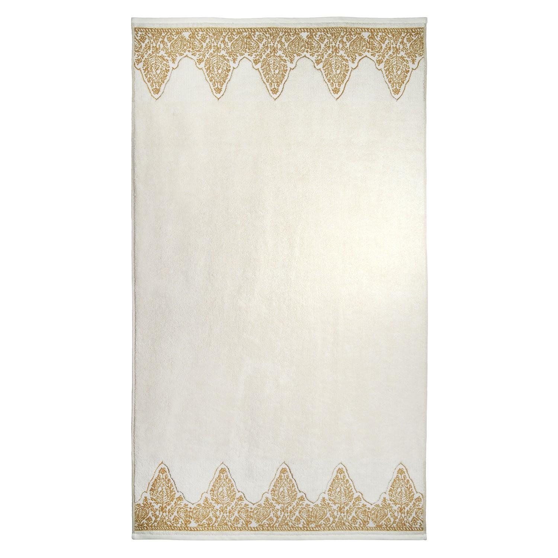 John Robshaw Nadir Pearl White/Gold Bath Towels | Gracious Style