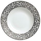 Salamanque Platinum French Rim Soup Plate 9 in Round | Gracious Style