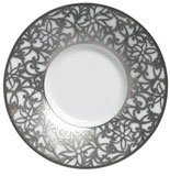 Salamanque Platinum Coffee Saucer 5 in Round | Gracious Style