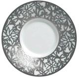 Salamanque Platinum Moka Saucer   Gracious Style
