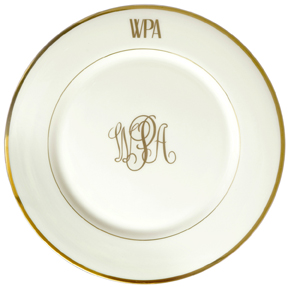 sc 1 st  Gracious Style & Pickard China Signature Monogram Charger | Gracious Style