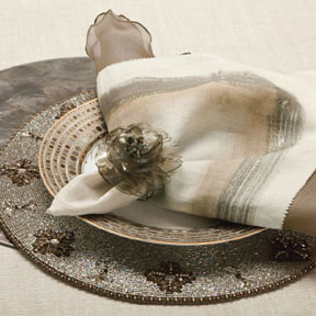 Tauped Out Table Setting