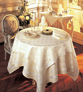 Square Tablecloth On Round Table
