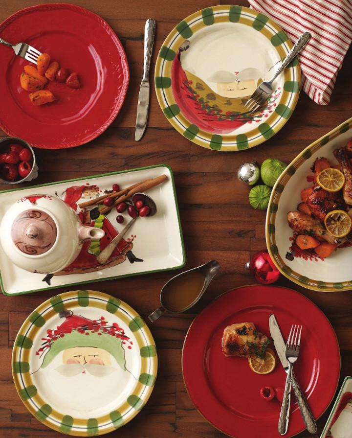 Vietri Old St. Nick Holiday Dinnerware | Gracious Style