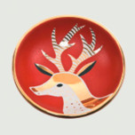 Reindeer Red Bullet Bowl by Wayland Gregory Ceramics | Gracious Style