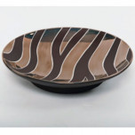 Zebra Print Brown Bullet Bowl by Wayland Gregory Ceramics | Gracious Style