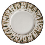 Cream Scale Platinum Dinnerware