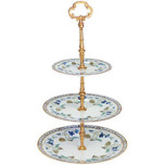 Imperatrice Eugenie 3 Tier Cake Plate 11 in