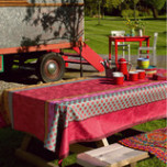 Zingaro Coated Pink Damask Table Linens