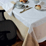 Imperatrice Gold Green Sweet Stain-Resistant Table Linens