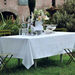 Mille Rubans Blanc Easy Care Table Linens