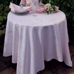 Mille Rubans Blush Easy Care Table Linens