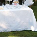 Siena White Damask Table Linens