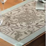 Venezia Ash Beige Damask Table Linens