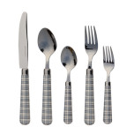 London Chic 5pc Flatware Set Denim Blue