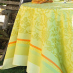 Provence Enduite Coated Lemon Green Table Linens