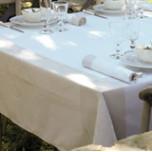 Venezia Ivory Damask Table Linens