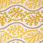 Dinner Napkins - Yellow Coral Print Fabric | Gracious Style