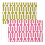 Reversible Placemats - Pink Lime Green Links | Gracious Style