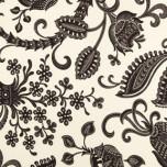 Dinner Napkins - Black & White Floral Print | Gracious Style