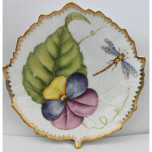 Giftware Pansy Leaf Dish 4.5 in Round
