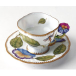 Giftware Flower Handle Leaf/Butterfly Cup & Saucer 4 oz